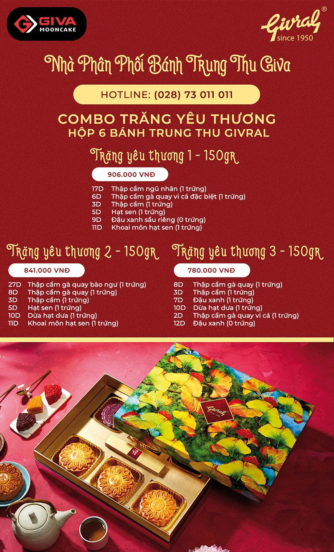 Combo Givral 6 bánh Trăng Yêu Thương