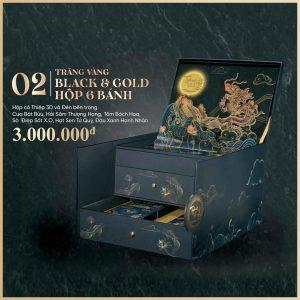 trăng vàng kinh đô cao cấp 6 bánh black and gold